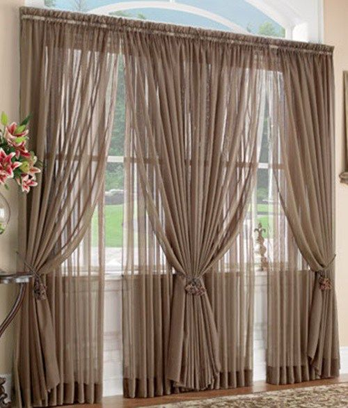 Layered Sheer Curtains Diy Curtains Big Window Curtains Beautiful Curtains
