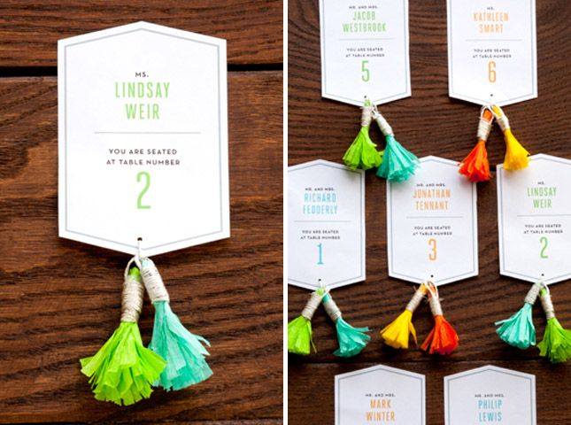 Say My Name 35 Table Card Ideas For Your Next Event Via Brit Co