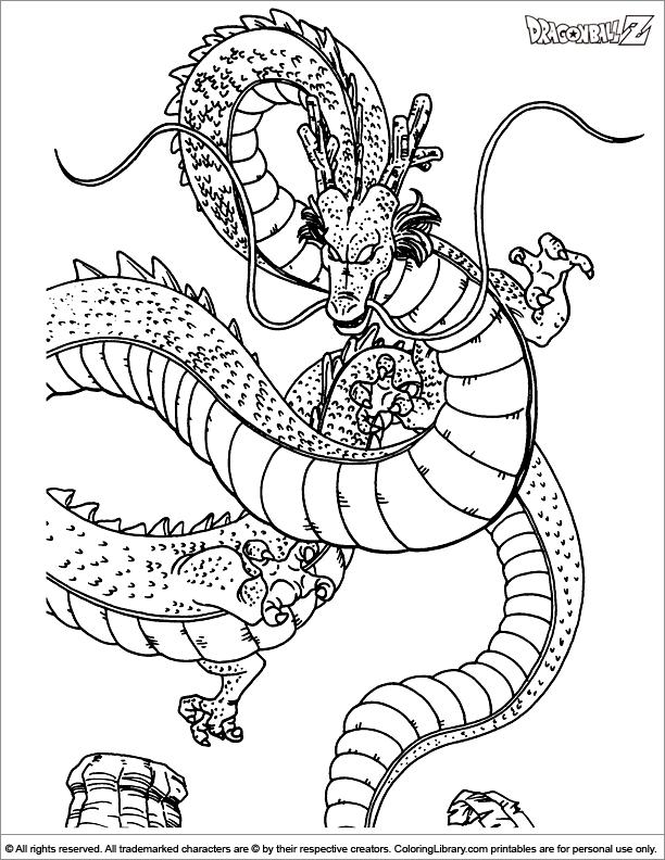 Dragon Ball Z Coloring Page Dragon Coloring Page Coloring Pages Pokemon Coloring Pages