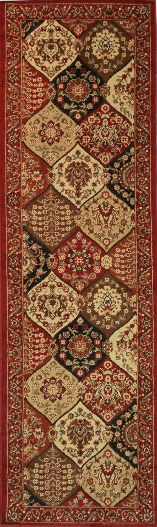 Barclay Wentworth Panel Red Area Rug