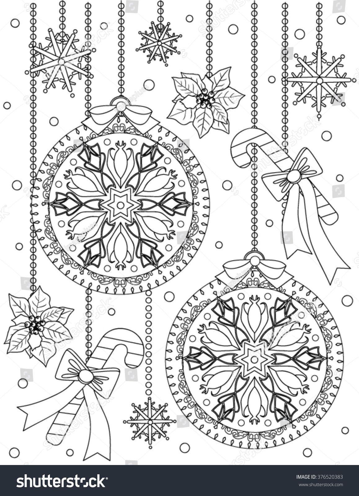 weihnachten malvorlagen stockvektorgrafik royalty free