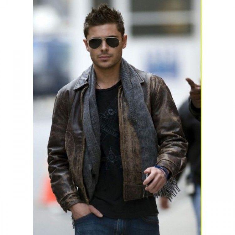 Brown Leather Jacket Celebrity - JacketIn
