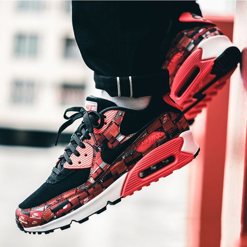 "pretty nice 441a4 b00d3 Nike Air Max 90 Print ""We Love Nike"" Bright Crimson"