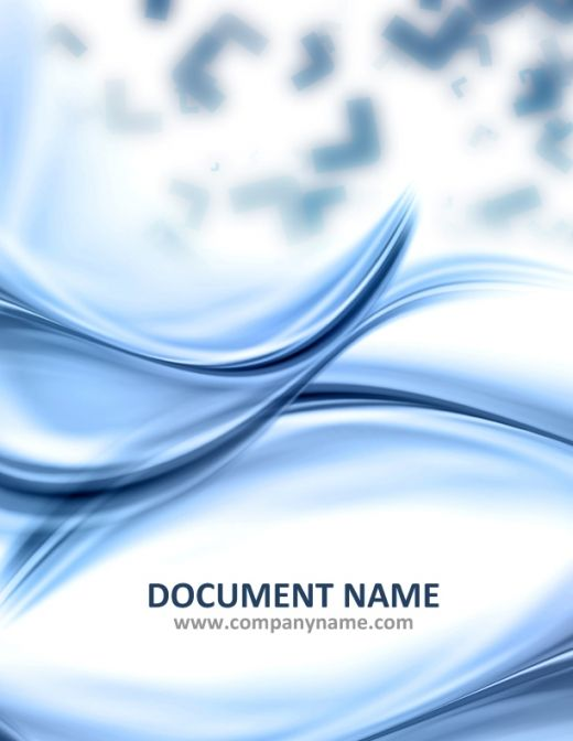 Word Documentation Cover Page Template  Free Report Cover Page Template