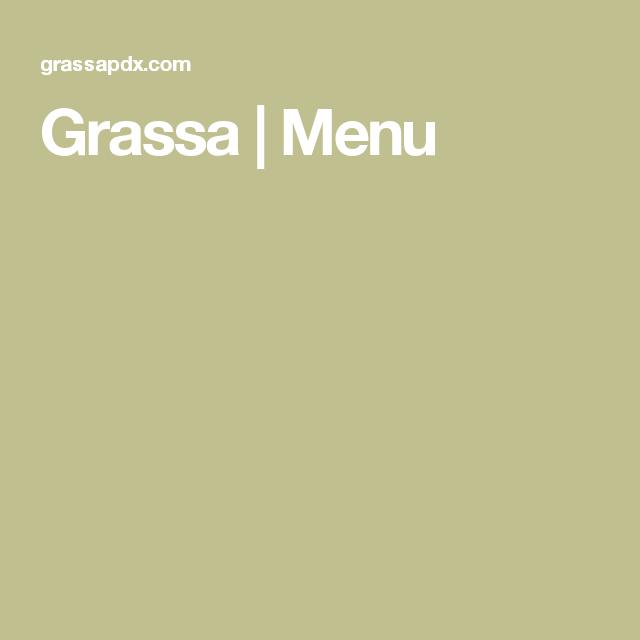 Grassa   Menu