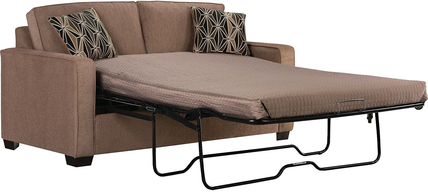 Freya Chenille Twin Size Sofa Bed Oak United Furniture Warehouse Pull Out