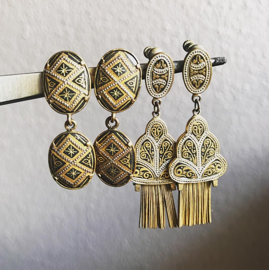 Vintage Costume Jewellery Earrings