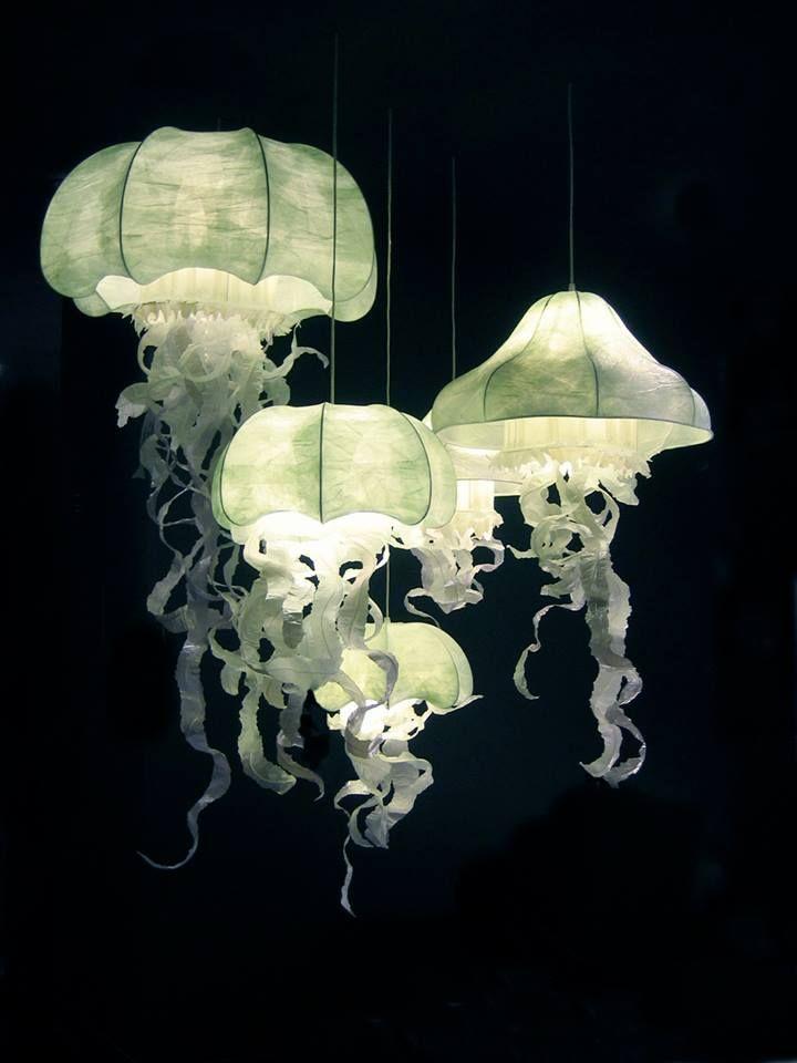 entre lumi re et transparence les m duses con ues en papier par la cr atrice deco. Black Bedroom Furniture Sets. Home Design Ideas