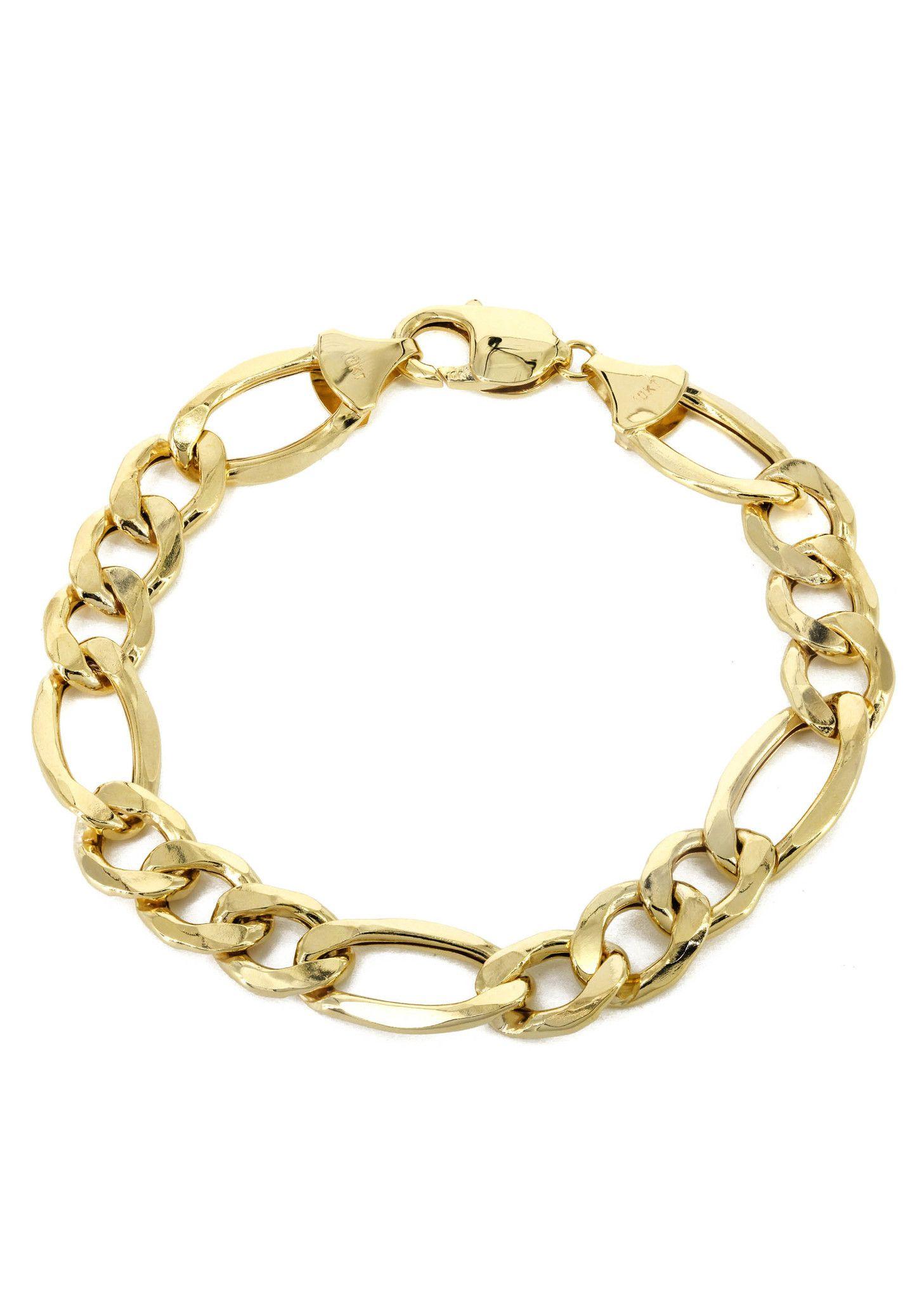 275c6c84d 14K Gold Bracelet Solid Figaro   D.M Personal 2019..EXE..   10k gold ...