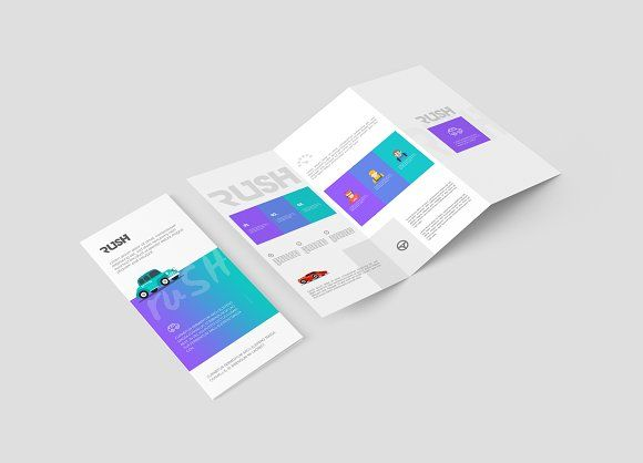 A4 Z-Fold Brochure Mock-Up by ToaSin Studio on