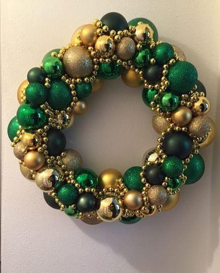 Decorating Wreath With Christmas Balls Home And Garden Diy Ideas Photos And Answers  Diy Ideas Wreaths