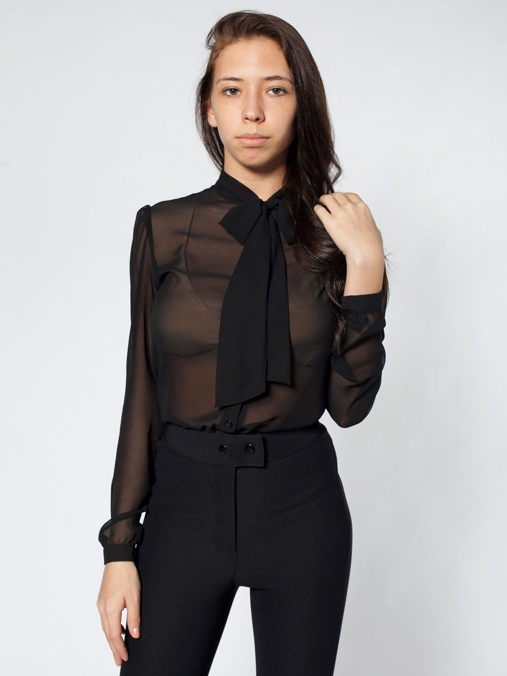 557fb492c Chiffon Secretary Blouse | Blouses & Shirts | Women's Tops | American  Apparel