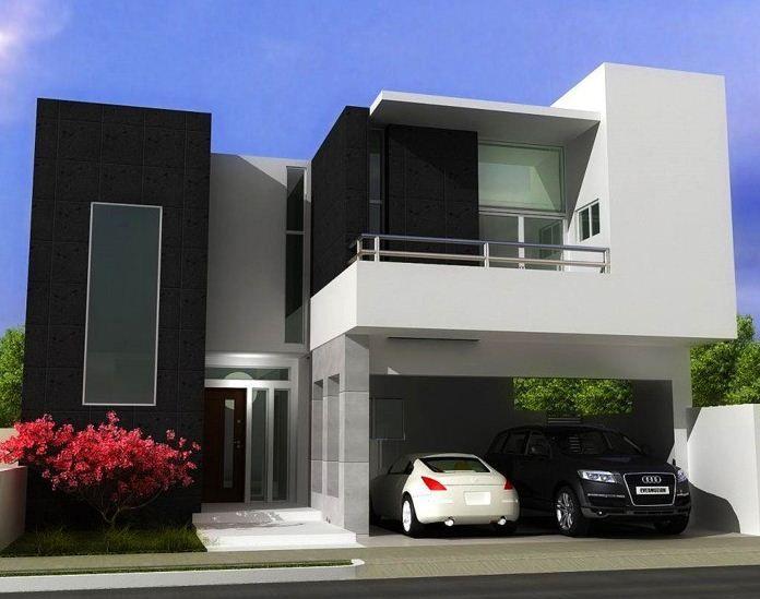 Fachadas minimalistas modernas arquitectura en 2019 for Casa minimalista 2 plantas