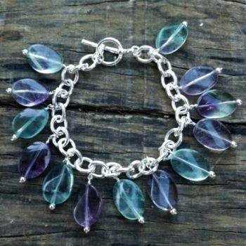 Fluorite Gemstone Charm Bracelet at the Shopping Mall, $65.00 (AUD)