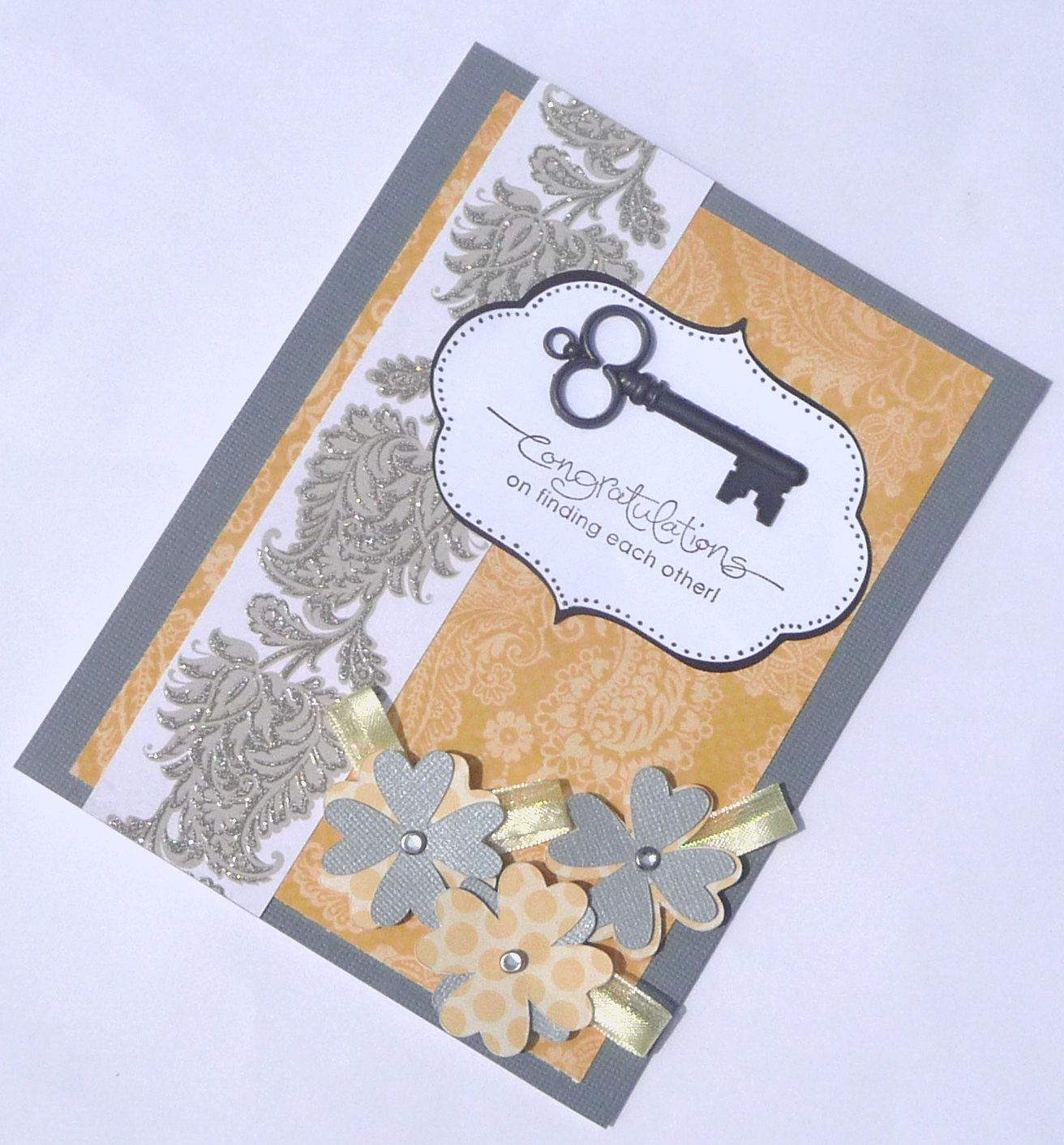 Congratulations Wedding Greeting Card Handmade Paper Card For