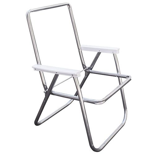 aluminum high back lawn chair frame with plastic arms 29 99 rh pinterest com