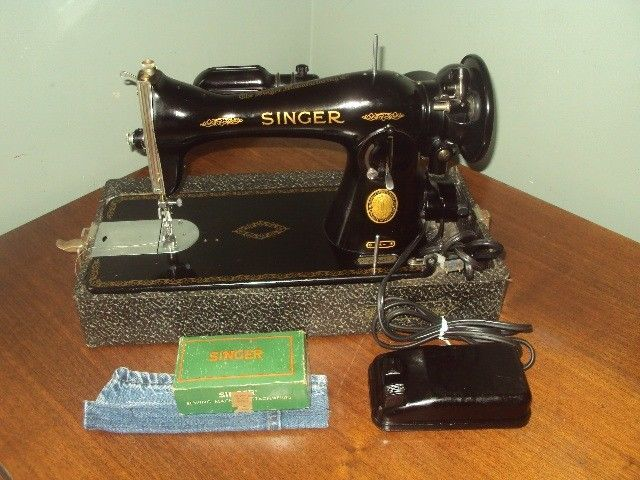 Vintage 40 Singer Sewing Machine 4040 Portable Heavy Duty Tested New 1955 Singer Sewing Machine