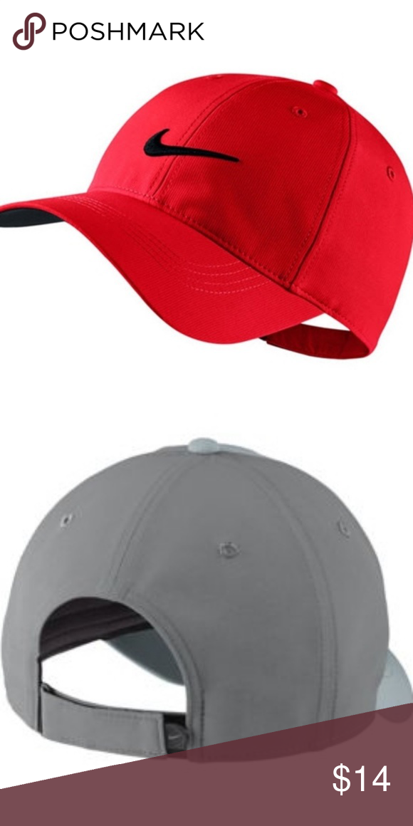 291b3743f112d9 NWT Nike Youth Unisex Legacy91 Golf Hat Red Brand new! Nike youth unisex  legacy91 res golf cap one size fits all. Red hat with black Nike symbol. Gray  hat ...