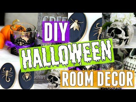 DIY HALLOWEEN ROOM DECOR 3 Cheap  Easy Room Decor Ideas for - how to make halloween decorations youtube