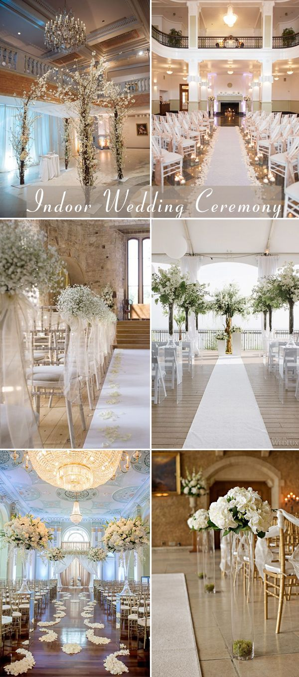 Elegant indoor wedding ceremony decorations also awesome themed decoration ideas weddings rh pinterest