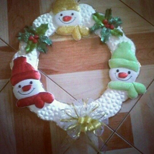 """Coronas de Navidad """"frosty"""""""