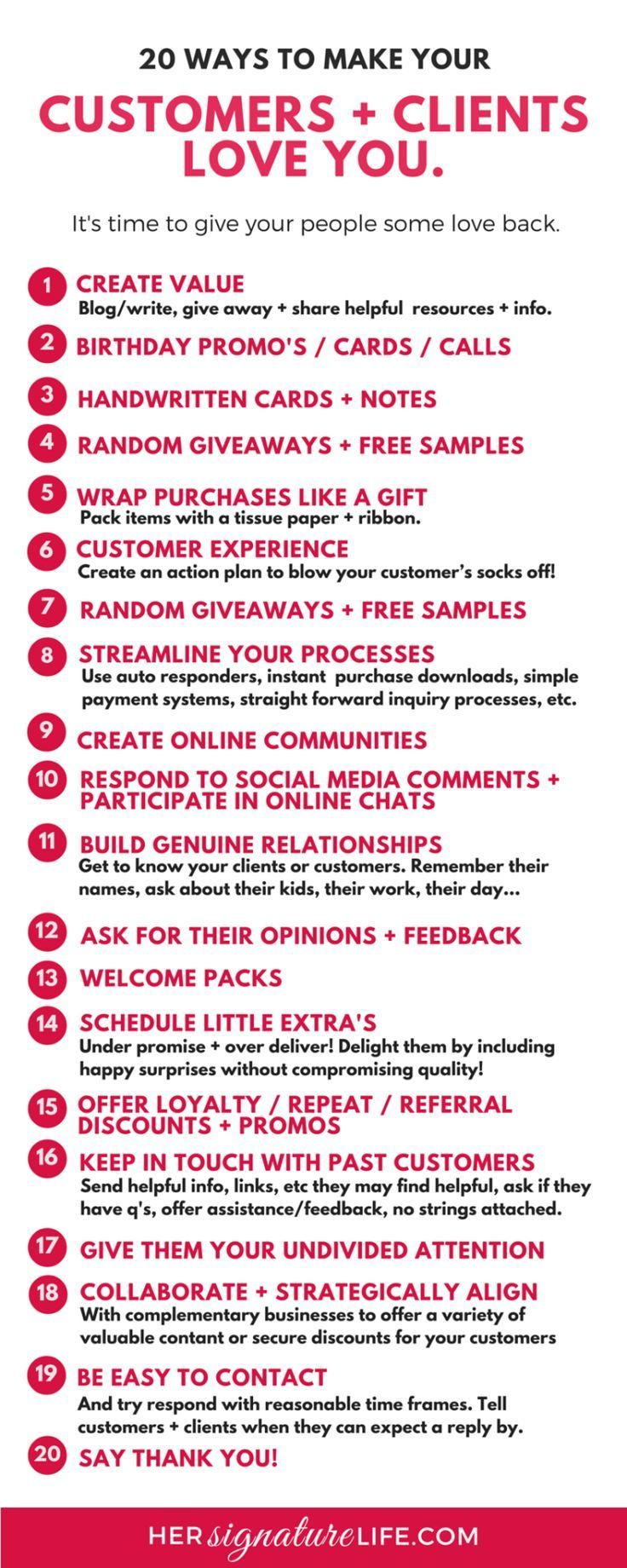 nice Simple, cost and time effective ideas to help thank, delight ...