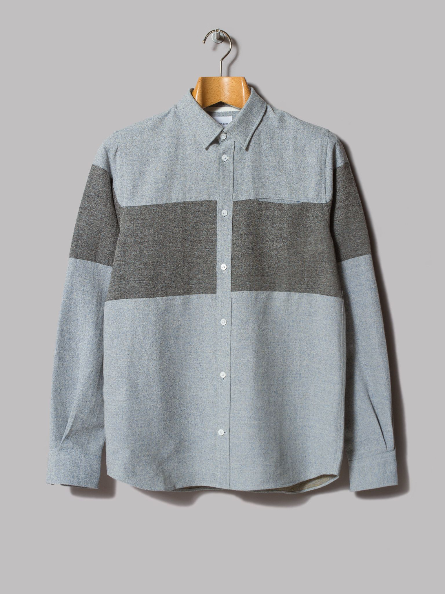 bdaf18e3195 Norse Projects Anton Speckled Cotton Linen Shirt (Pale Blue)