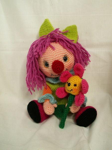 kleine amigurumi Mädchen Clown 18cm von les créas de Laurab auf ...