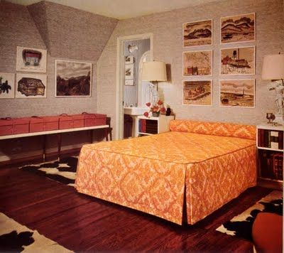 60s Bedroom Vintage Interior Design Contemporary Bedroom Design Interior
