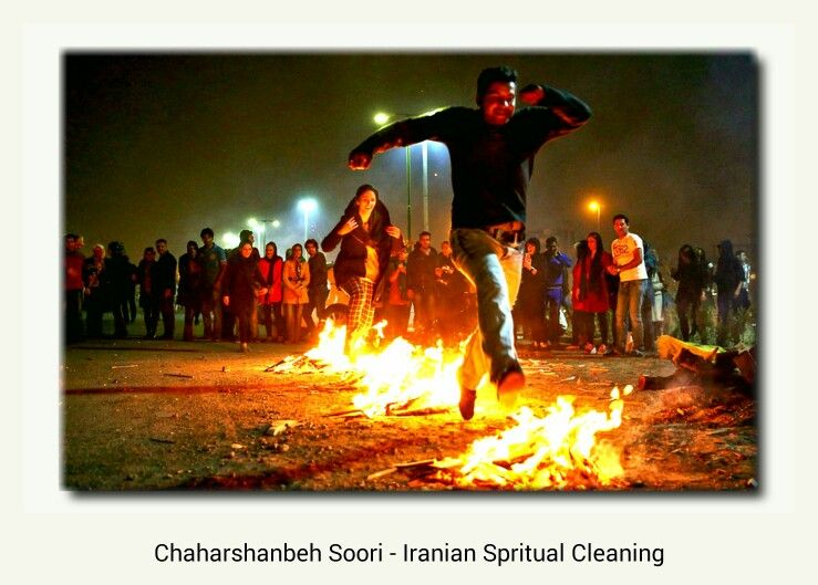Chaharshanbeh Soori - Iranian Spritual Cleaning on Tuesday Night 19 March 2014