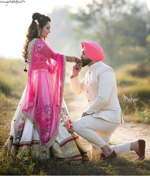 Girls Wedding Dressescouples Dppunjabi Suit Punjabi Couple Dps