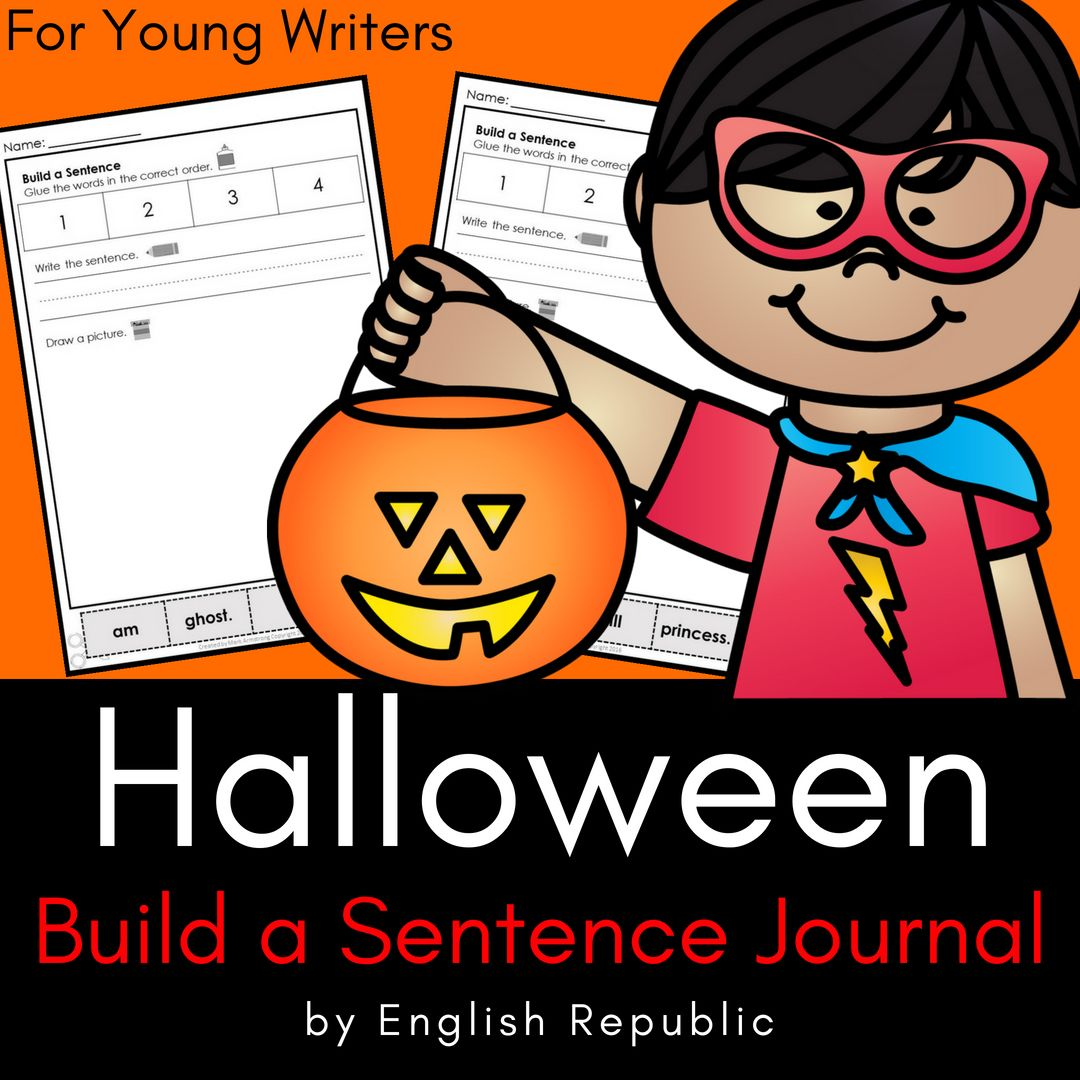 Halloween Build A Sentence Journal For Young Writers