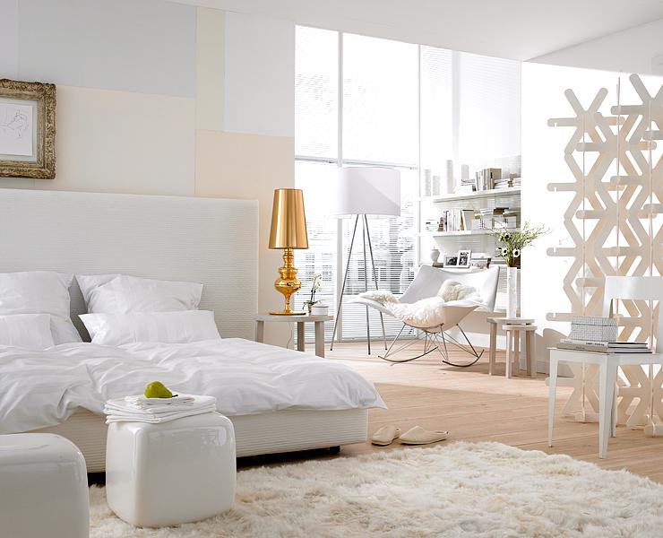 Weißtöne Wandfarbe schlafzimmer einrichten ideen zum gestalten und wohlfühlen