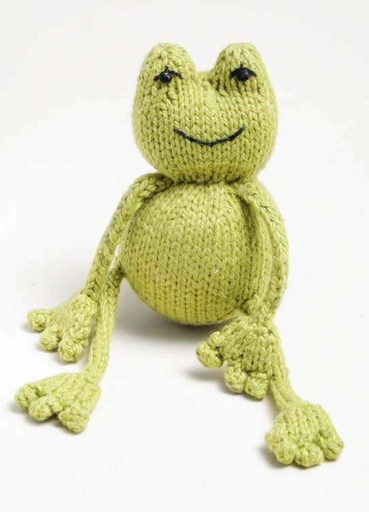 Free Ribbit Frog Toy Knitting Pattern In Spud Chloe A Cute Free