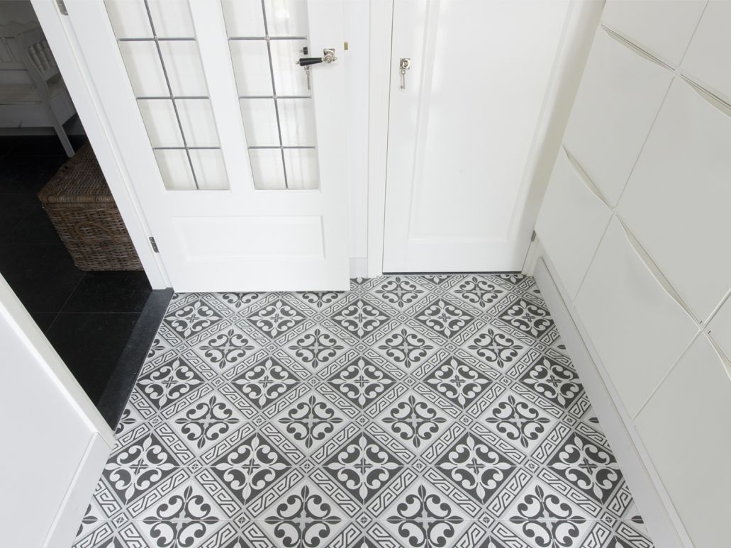 carrelage sol aspect carreaux de ciment juliette gris carrelage en 2019 pinterest