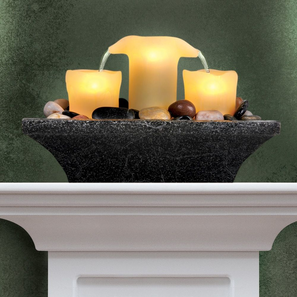 Order home collection fameless led candle fountain overstock