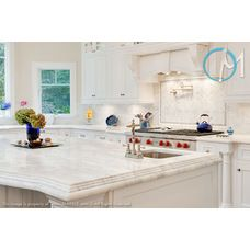 Amazing This Classic White Quartzite Brings A Great Clean Look To This Kitchen.