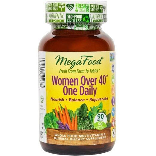 MegaFood Women Over 40 One Daily, Promotes Immune Health & Well-being, 90 Tablets