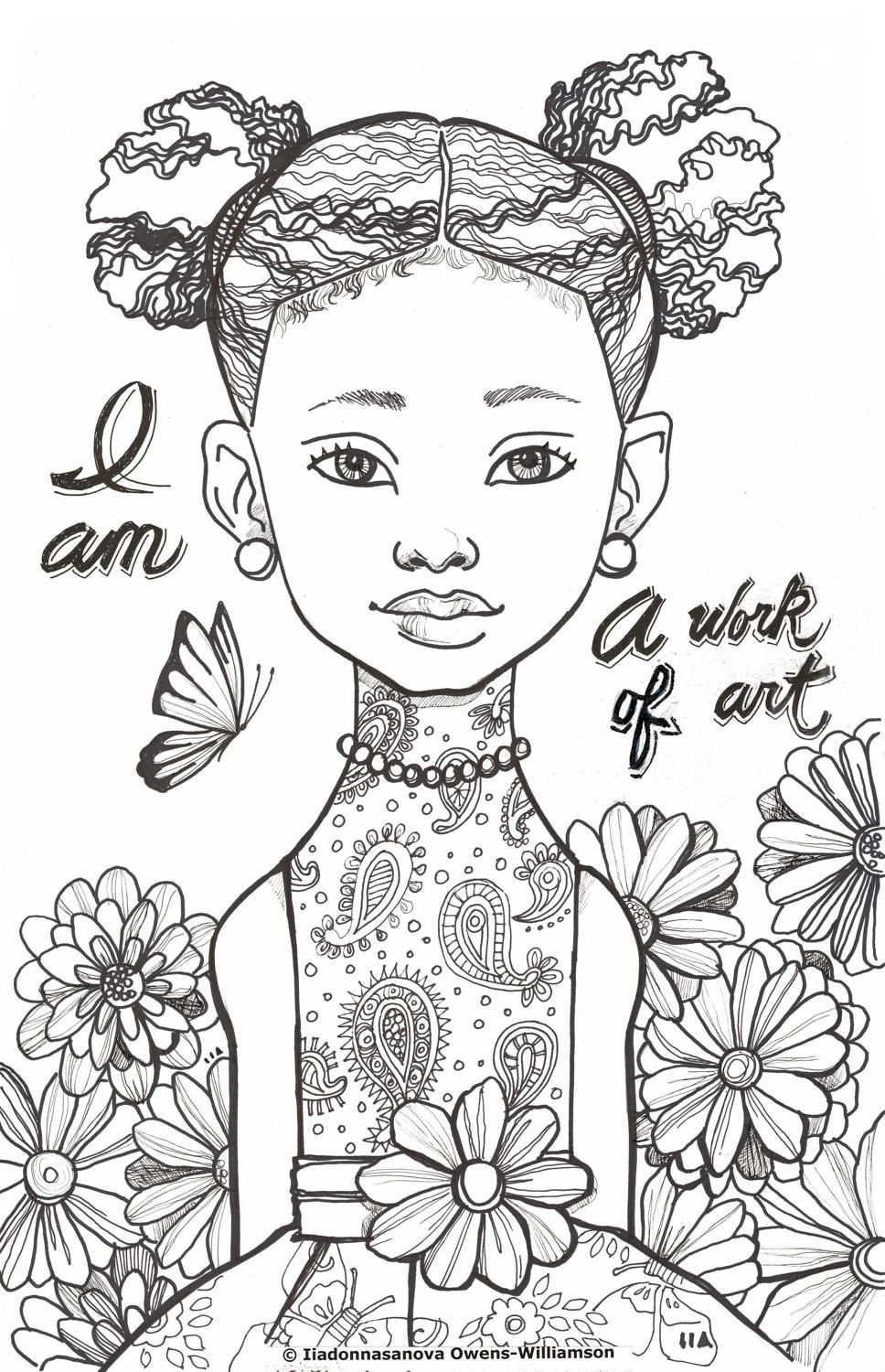 I Am Creative Expression Coloring Sheets Coloring Book Etsy Coloring Books Cartoon Coloring Pages Creative Expressions