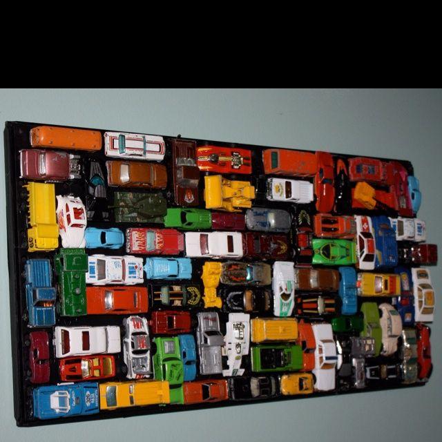 vintage car bedroom decor | Vintage matchbox car wall art ...