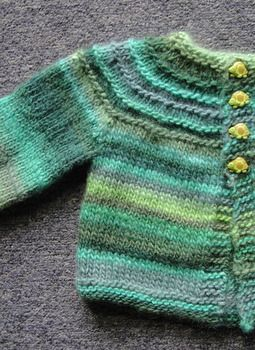 5 hour baby sweater - this free knitting pattern has been floating around the internet for many years, great for charity donations - Crystal Palace Yarns
