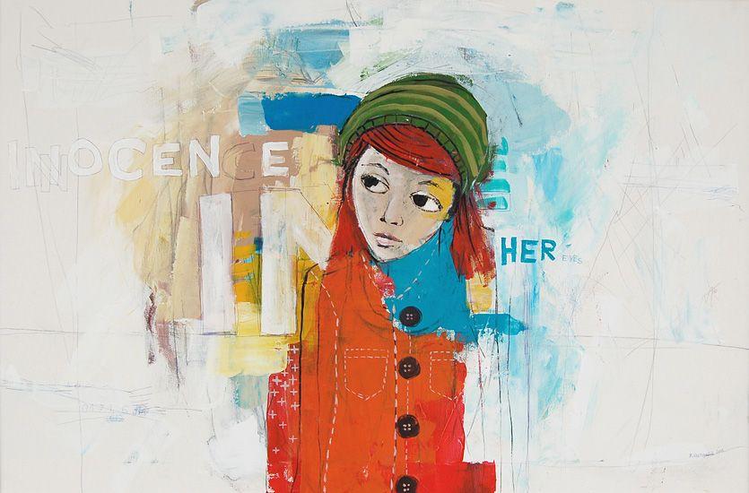 """Innocence"", 2011, painting by Vane Kosturanov."