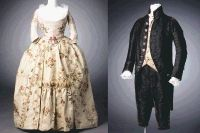 Elizabeth Monroe's wedding gown (1786) and suit worn by James Monroe