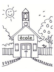 Coloriage Ecole 25 Modeles A Imprimer Coloriage Ecole Coloriages Maternelle Bienvenue A L Ecole