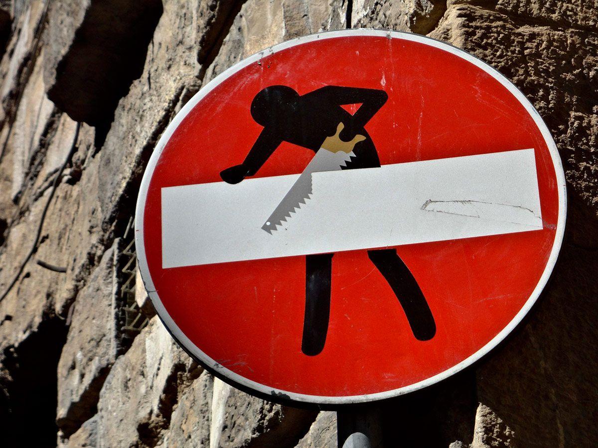 Clet Abraham Sign