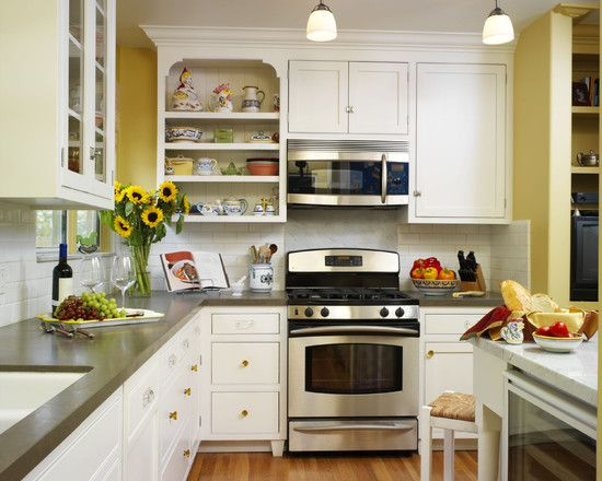 Best Yellow Kitchen Walls With Brown Cabinets Flower Vase And 640 x 480