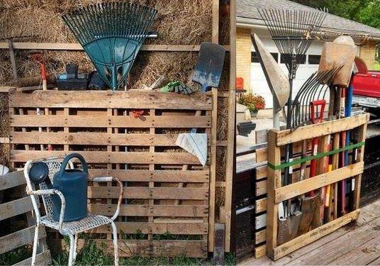 Conseils et id es pour ranger vos outils de jardinage - Fabriquer un porte outils de jardin ...