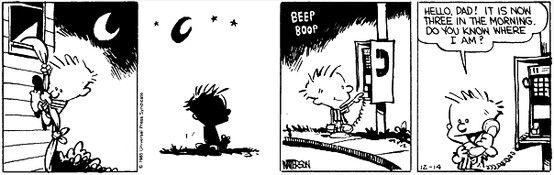 Calvin & Hobbes Do you know where I am?