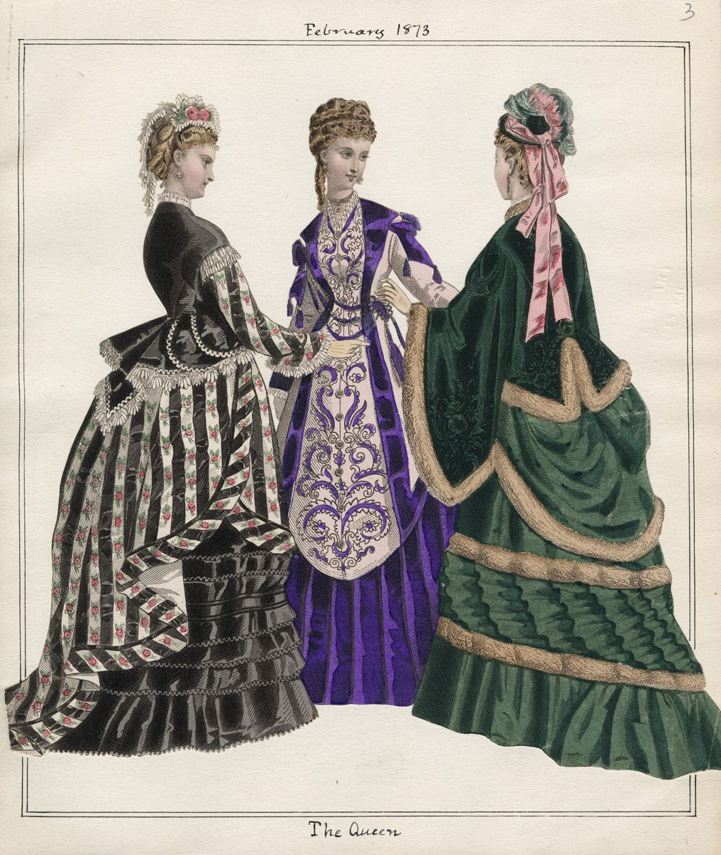Casey Fashion Plates Detail | Los Angeles Public Library The Queen Date: Saturday, February 1, 1873