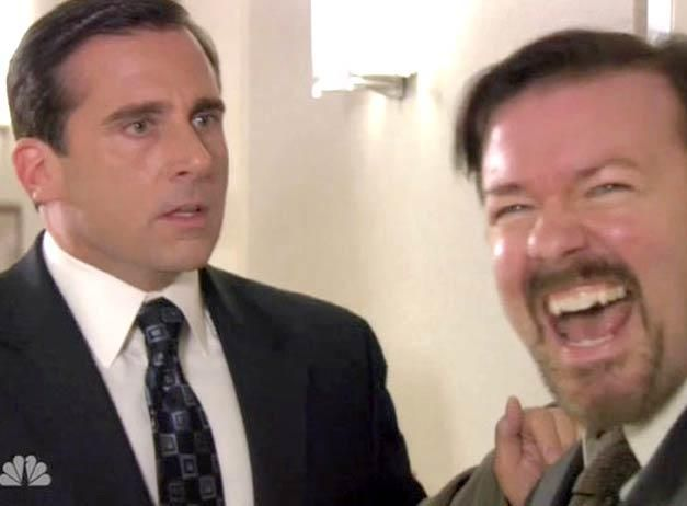 michael scott and david brent. Maybe one of my favorite office moments EVER. d9dc1fa144f